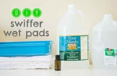 It takes less than 5 minutes to make your own swiffer wet pads. 72% cheaper than the chemical ridden store bought version!