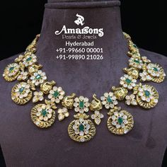 Uncut Diamond Gold Necklace at Amarsons jewellery.For More Info Whatsapp on : Geek Jewelry, Jewelry Design, Jewelry Necklaces, Designer Jewellery, Pearl Necklaces, Latest Jewellery, Small Necklace, Gold Necklace, Indian Necklace