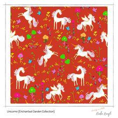 See more joyful art in this blog post feature! Unicorn patterns, unicorn illustrations, children's pattern designs, unicorn prints, illustrations, surface pattern design, textile design Pattern Designs, Surface Pattern Design, Patterns, Unicorn Pattern, Unicorn Print, Unicorn Illustration, Joyful, Textile Design, Textiles
