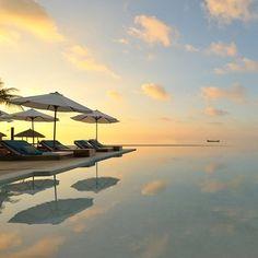 Pool at Sunset - Velassaru Maldives