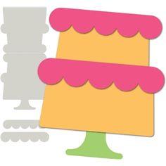 #9903: 'birthday cake' card base