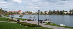 I lived in an apartment on the edge of this pond in Kuopio for 9 months. True Stories, Finland, Contemporary Design, Pond, Live, Nature, Water Pond, Naturaleza, Nature Illustration