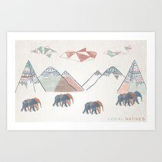 Local Natives Art Print by MEERA LEE PATEL - $18.00