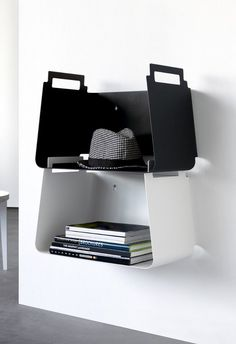 Buy online Vasu By covo, wall shelf design Mikko Laakkonen, not common things Collection Metal Sheet Design, Sheet Metal, Modular Shelving, Shelving Systems, Storage Shelving, Book Storage, Bookcase Shelves, Metal Shelves, Bookshelves