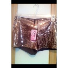 Sequined shorts New never worn could fit a medium no flaws nor stains no missing sequins Other