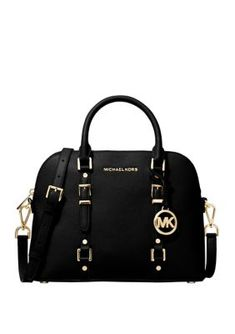 Equal parts chic and practical, the Legacy dome satchel bag by Michael Michael Kors features supple leather and an adjustable strap for convenient, convertible wear. Carteras Michael Kors, Sac Michael Kors, Michael Kors Bedford, Michael Kors Outlet, Handbags Michael Kors, Michael Kors Black Bag, Kate Spade Handbags, Purses And Handbags, Stylish Handbags