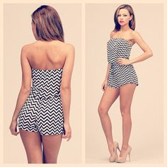 Time to blur the lines! Blurred Lines Romper. http://www.vanityrow.com/collections/new/products/blurred-lines-romper