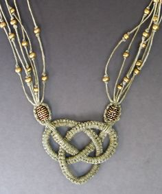this pendant is made using a micro macrame technique