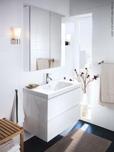 GODMORGON/ ODENSVIK element s umivaonikom daje kupaonici umirujući, dizajnerski izgled. www.IKEA.hr/elementi_s_umivaonikom