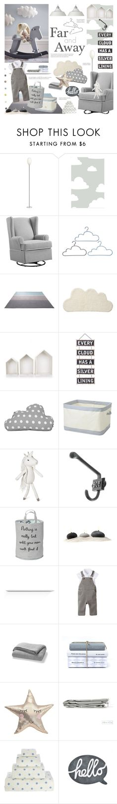"""""""Above The Clouds; Baby Boy Nursery"""" by happilyjynxed ❤ liked on Polyvore featuring interior, interiors, interior design, home, home decor, interior decorating, Flos, WallPops, Eddie Bauer and ESPRIT"""