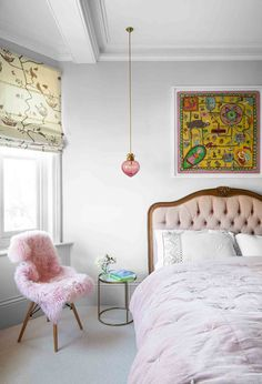In this Victorian revamp, soft sorbet shades set a calm palette – then a host of brilliantly wayward finishing touches stir things up. Quirky Home Decor, Cheap Home Decor, Diy Home Decor, Quirky Bedroom, Home Decor Bedroom, Bedroom Ideas, Colourful Bedroom, Master Bedroom, Entryway Decor