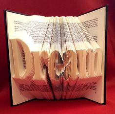 Pattern to fold DREAM into a book Smaller font by Bookfolding