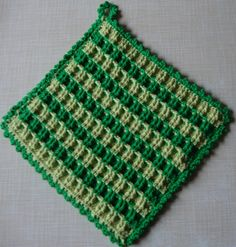 FO: Topflappen mit Waffelmuster   Basteln / DiY   Knitting ...