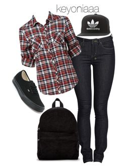 """skater chick"" by keyoniaaa ❤ liked on Polyvore featuring SILENT by Damir Doma, Ksubi, Forever New, Vans and adidas"
