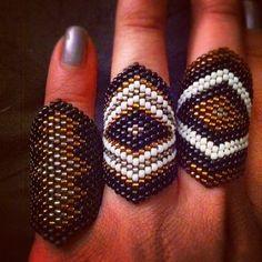 #modocdesign #handmade #beadwork #rings