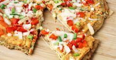 Low Carb Rezepte: Low Carb Veggie Pizza mit Blumenkohl-Kruste