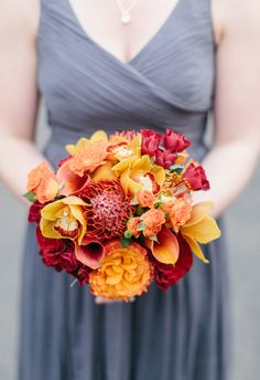 A fall palette in red, orange, and yellow // Katy Weaver Photography