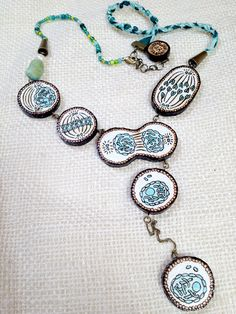 Mitosis Necklace Handmade and eco-friendly by NaturalistsCabinet