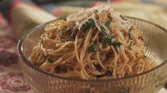 Guajillo and Garlic Pasta  recipe from Pati Jinich PBS tv   patismexicantable.com