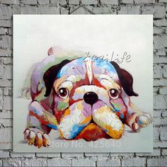Oil painting On Canvas Wall Pictures Paintings For Living Room Wall Art Canvas Pop art modern abstract hand painted Dog cuadros