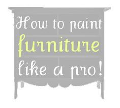 How to spray paint furniture - tools of the trade