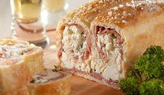 Revista Champagne News: Pão do Papai - Pão de Ricota com Salame