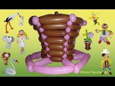 Ballon balloon, Schlumpf smurf, Modellierballon Ballonfiguren Part 1/2 Comic Kartoon - YouTube