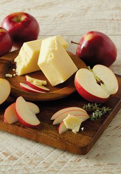 Seasonal Apples and Aged White Cheddar Cheese, a Perfect Paring for Fall.