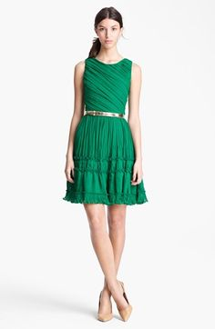 Oscar de la Renta Pleated Cocktail Dress available at #Nordstrom...found the dress I love, till I saw the price tag.