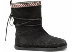 Black Suede Trim Women's Nepal Boots | These are sure to keep her toes toasty!