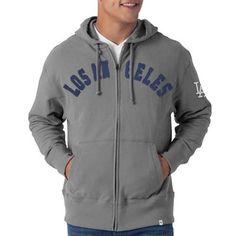 38676fa4a L.A. Dodgers Strikers Full Zip Hoodie Sweatshirt - Gray Seattle Mariners