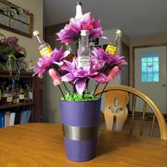 "blogdeedah: Bachelorette Party ""Booze Bouquet"""