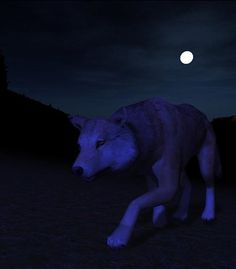 This is what Luna looked like on time sneaking on an elk but it was to fuzzy so I got this one on WolfQuest.org website screenshot