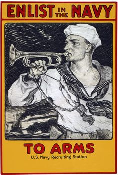 WWI 'To Arms' Enlist In The Navy War Poster