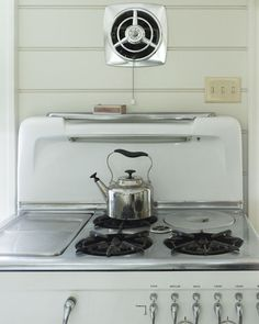 Would It Be Enough To Add A Vent Like This Vintage Stove Used Have With Recessed Stock Pot