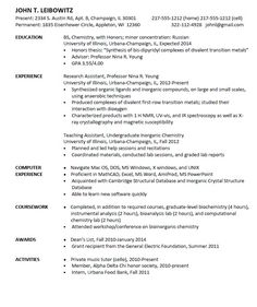 Entry Level Chemist Resume Sample Resumesdesign Resume Sample Resume Templates Sample Resume