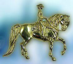 Morgan Western Pendant JET3443  The Gorgeous Horse Jewelry
