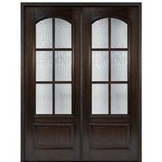 Order this Mahogany Fiberglass Exterior, French/ Patio door Double Door is an ideal fit for your home Internal French Doors, Glass French Doors, French Doors Patio, Patio Doors, French Patio, Glass Doors, Double Front Entry Doors, Double Doors Exterior, Front Doors
