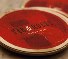 Great food.   Tar & Roses Santa Monica, California Branding by Varnish Studio Inc
