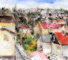 City Art Print featuring the painting City View by Cuiava Laurentiu Thing 1, City Art, All Print, Fine Art America, Wall Art, Prints, Cities, Painting, Image