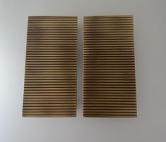 Pair of Luxury GOLD Door / Wardrobe handles /knobs Rectangular, Italian made. Gold Door, Wardrobe Handles, Door Ideas, Polished Brass, Door Handles, Bronze, Interiors, Curtains, Doors