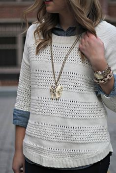 A Gap sweater as featured on the blog Bows & Sequins.