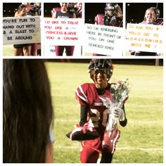 Homecoming proposal Cutest idea ever! The tiara was on a pillow!!