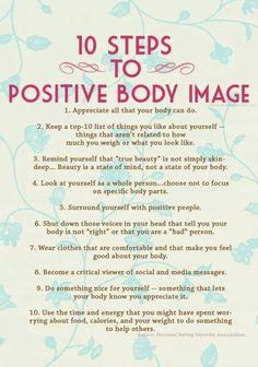 Positive body image.
