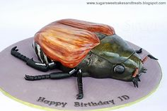 Japanese Beetle Bug Cake (with Tutorial) by Angela Tran (Sugar Sweet Cakes and Treats)