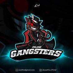 Feline Gangsters Esports Team Personalized Cartoon Logo Illustration in full color. Game Logo Design, Logo Design Services, Create A Cartoon, Person Cartoon, Android Theme, Esports Logo, Cartoon Logo, Cool Logo, Logo Nasa