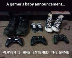 Gamer Baby Announcement