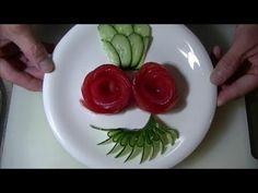 きゅうりの飾り切り 作り方  Cucumber carving  Garnish