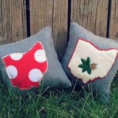 Ohio Pillows, Buckeyes, Home Decor