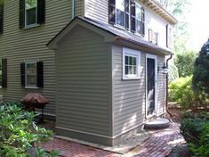 I so want to add a tiny mudroom off the back of our house for Mud room addition ideas